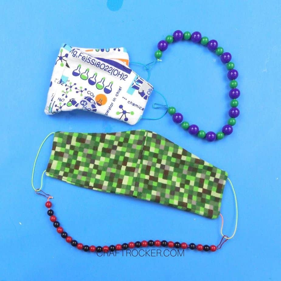 Beaded Lanyards Attached to Face Masks - Craft Rocker
