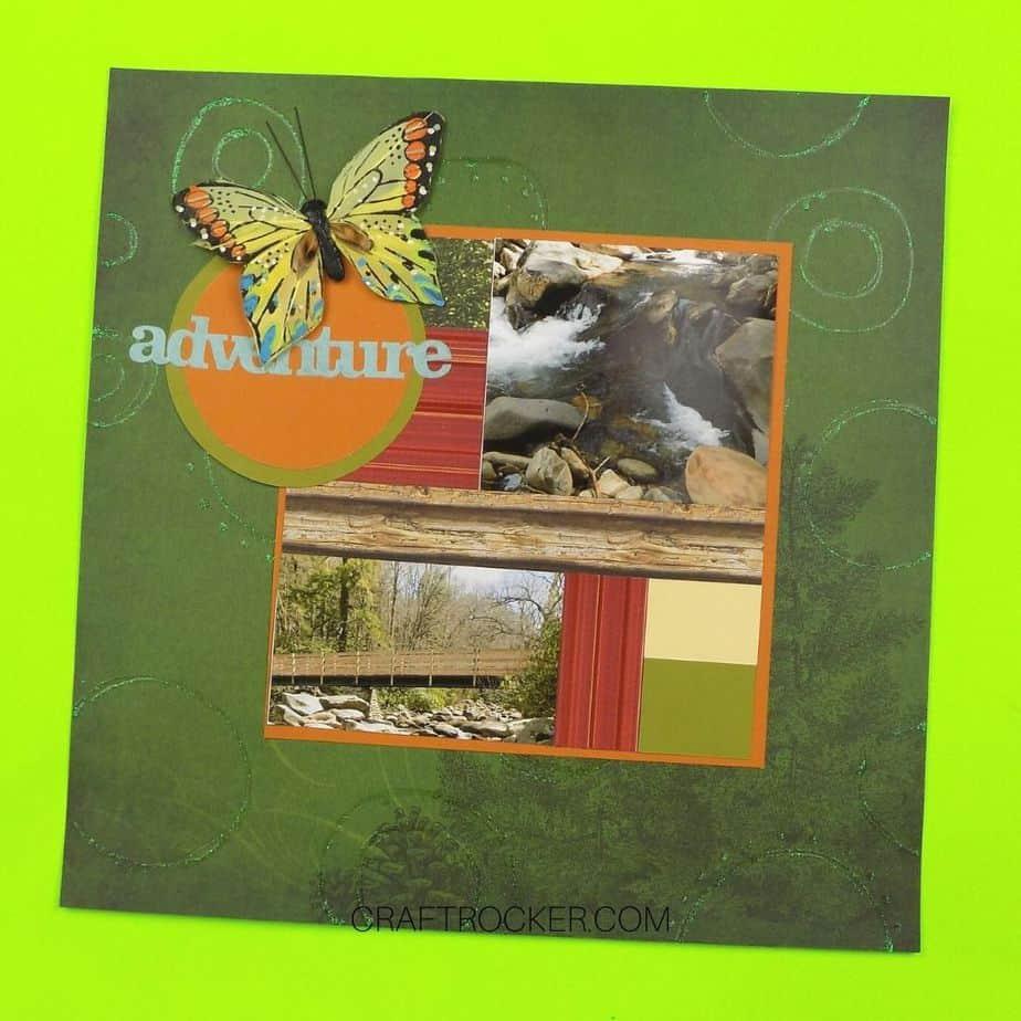 Butterfly Adventure Scrapbook Page - Craft Rocker
