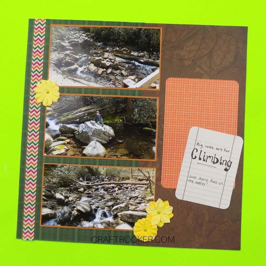 Climbing Outdoor Scrapbook Page - Craft Rocker