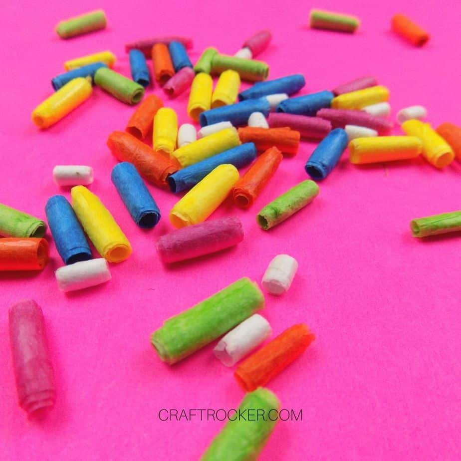 Close Up of Colorful Paper Beads - Craft Rocker