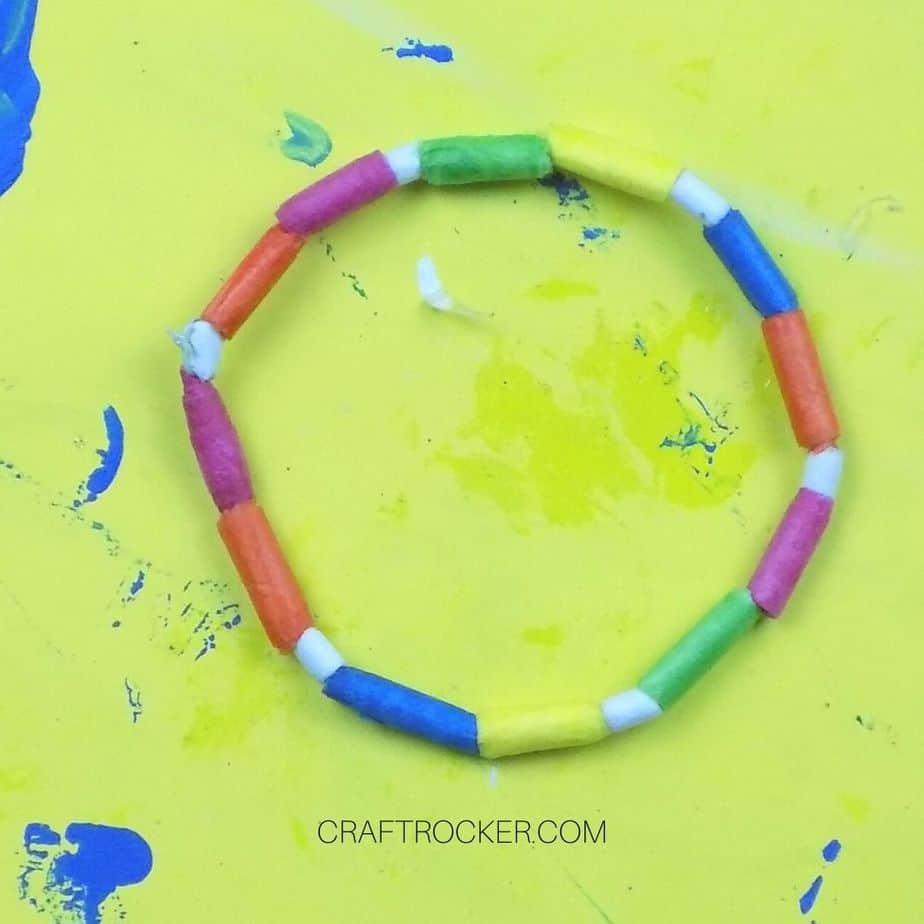 Close up of Excess Thread Cut Off Knot - Craft Rocker