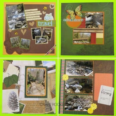 Outdoors Scrapbook Page Ideas