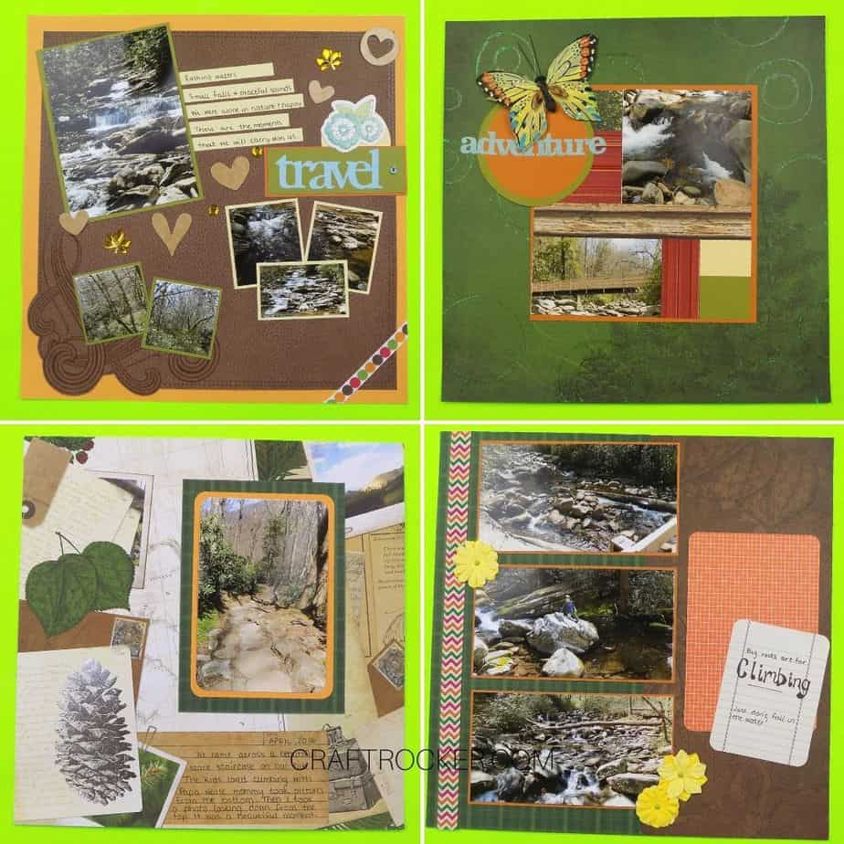 Collage of Outdoor Scrapbook Pages - Craft Rocker