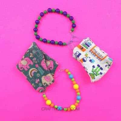 Clip-On Beaded Lanyards for Kids Masks