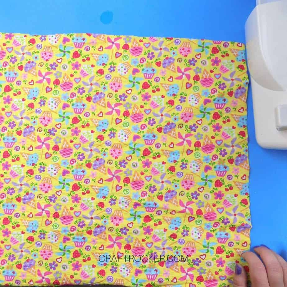 Cupcake Fabric on Blue Background - Craft Rocker