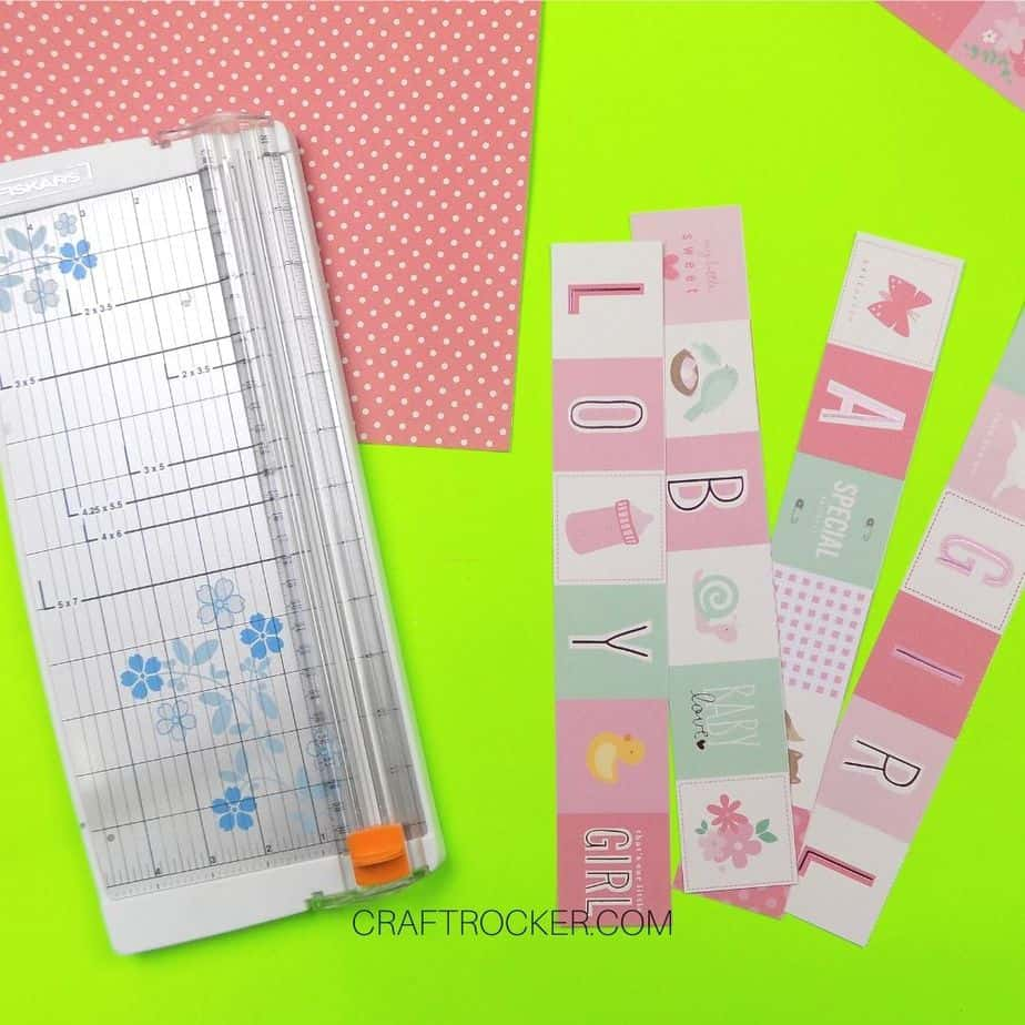Cut Strips of Paper Next to Paper Cutter - Craft Rocker