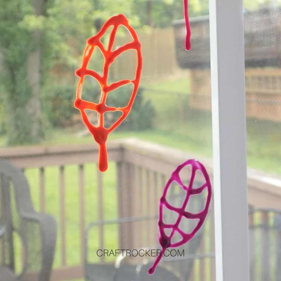 Fall Leaves Clings on Window - Craft Rocker