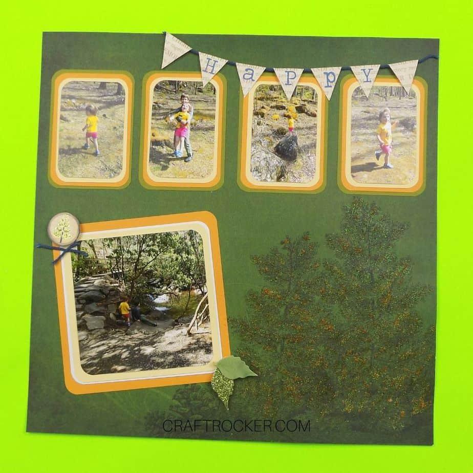 Happy Banner Outdoor Scrapbook Page - Craft Rocker