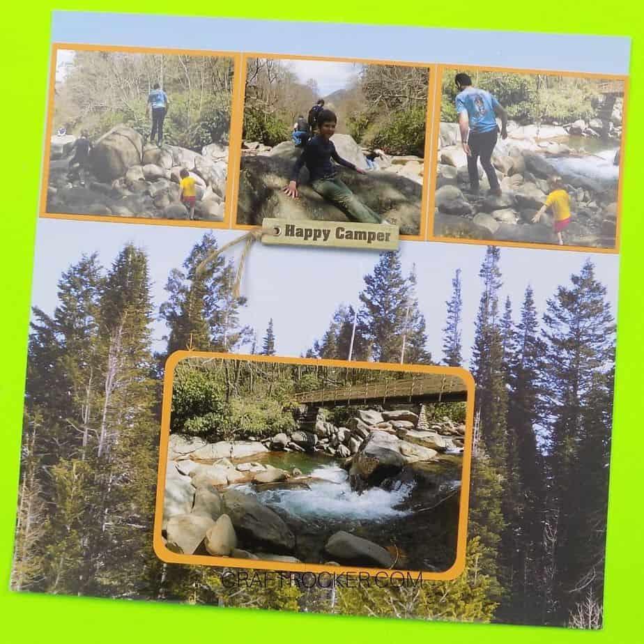 Happy Camper Scrapbook Page - Craft Rocker