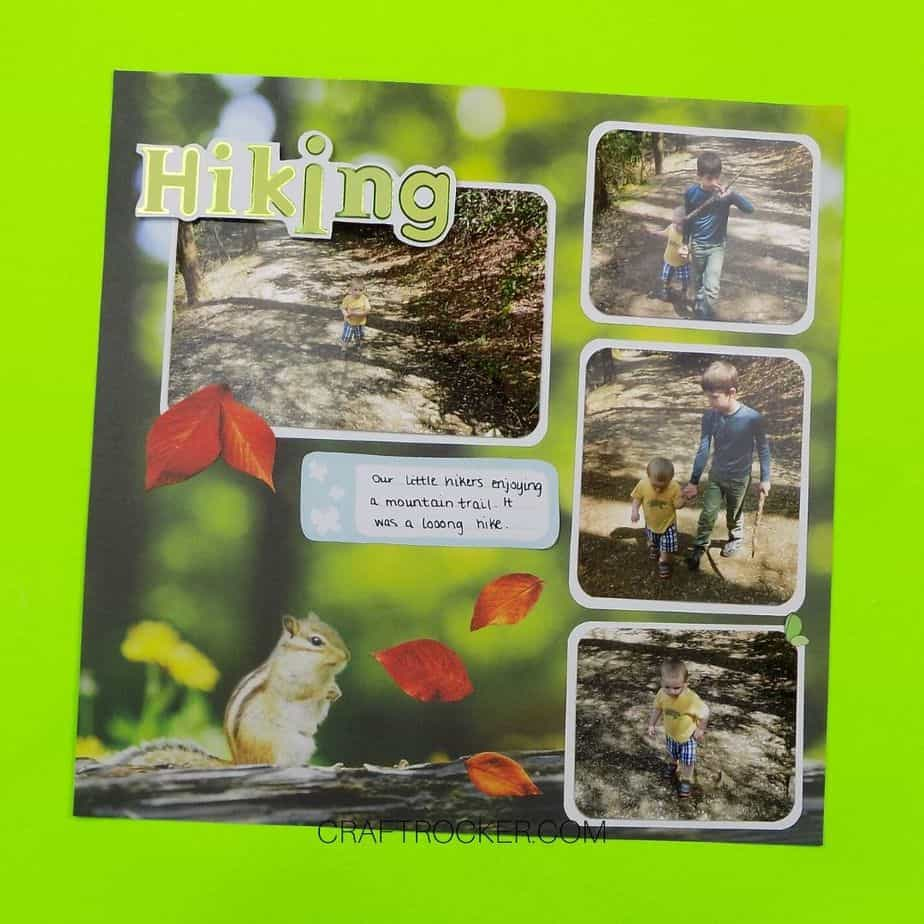 Hiking Chipmunk Scrapbook Page - Craft Rocker
