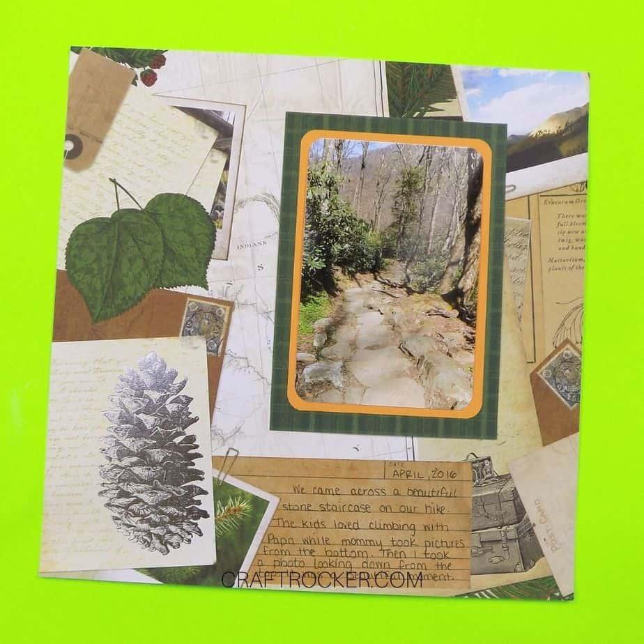 Layered Mementos Outdoor Scrapbook Page - Craft Rocker