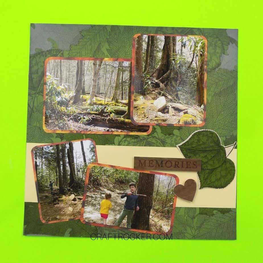 Leaf Memories Scrapbook Page - Craft Rocker