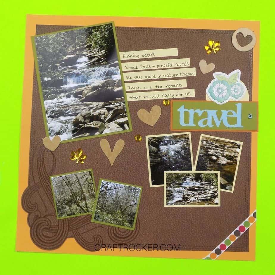 Leather Travel Scrapbook Page - Craft Rocker