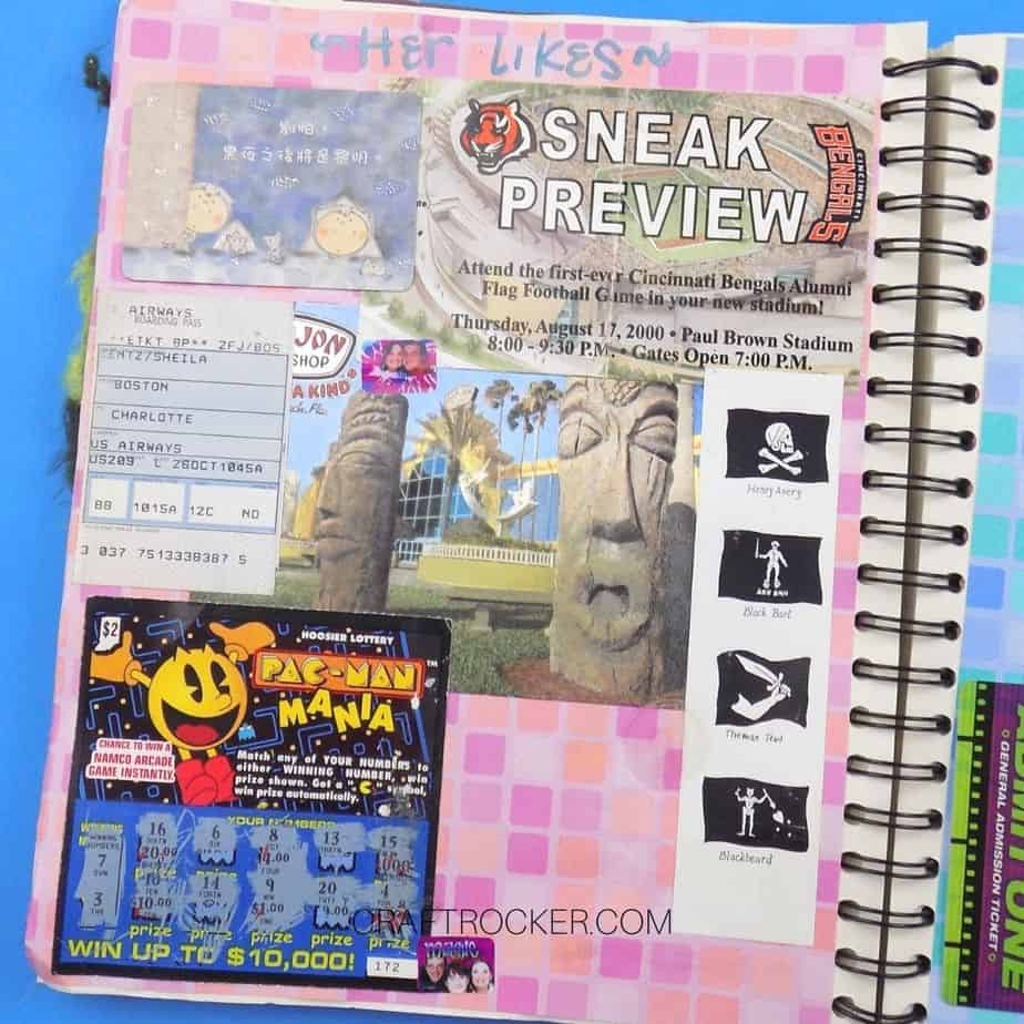 Memento Page in Spiral Bound Scrapbook - Craft Rocker
