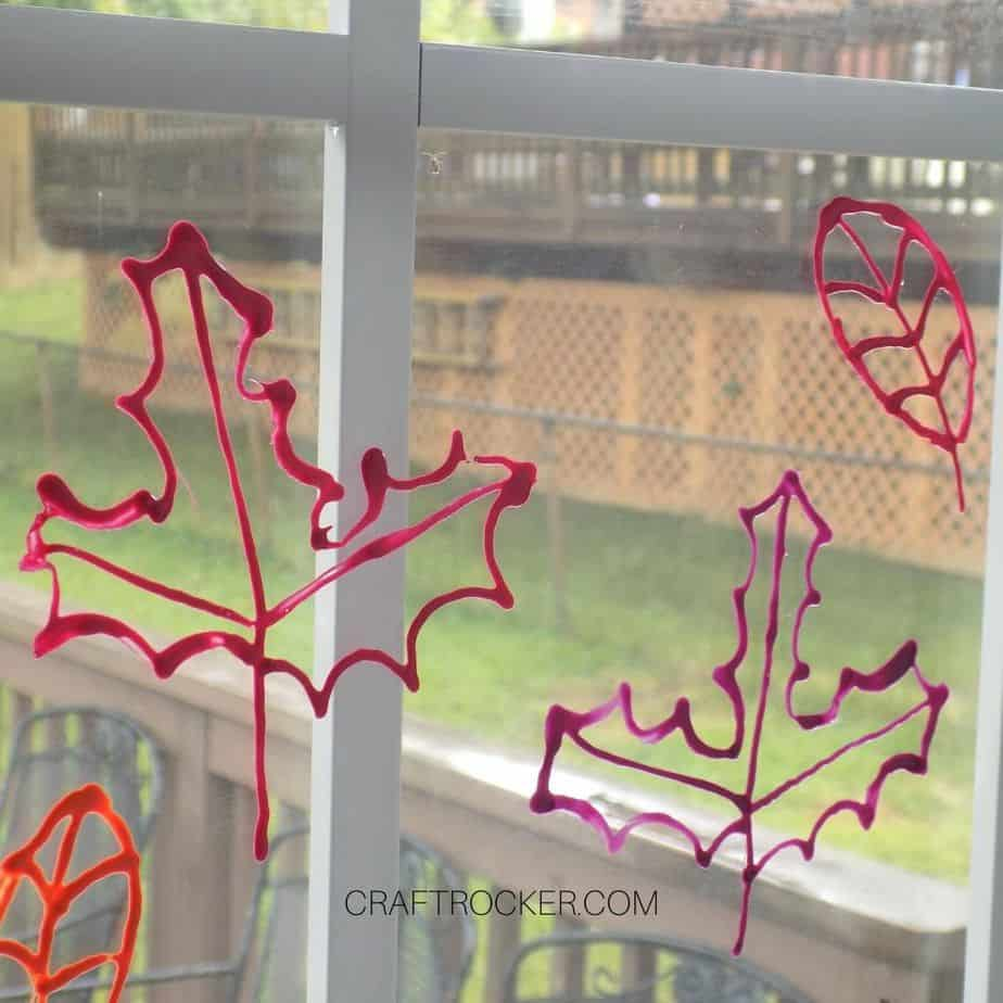 Mult-Colored Fall Leaves Clings on Window - Craft Rocker