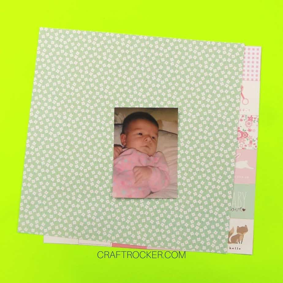 Photo of Baby on Top of 12 x 12 inch Decorative Paper - Craft Rocker