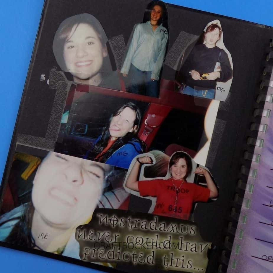 Photos Taped to Inside Cover of Senior Book - Craft Rocker