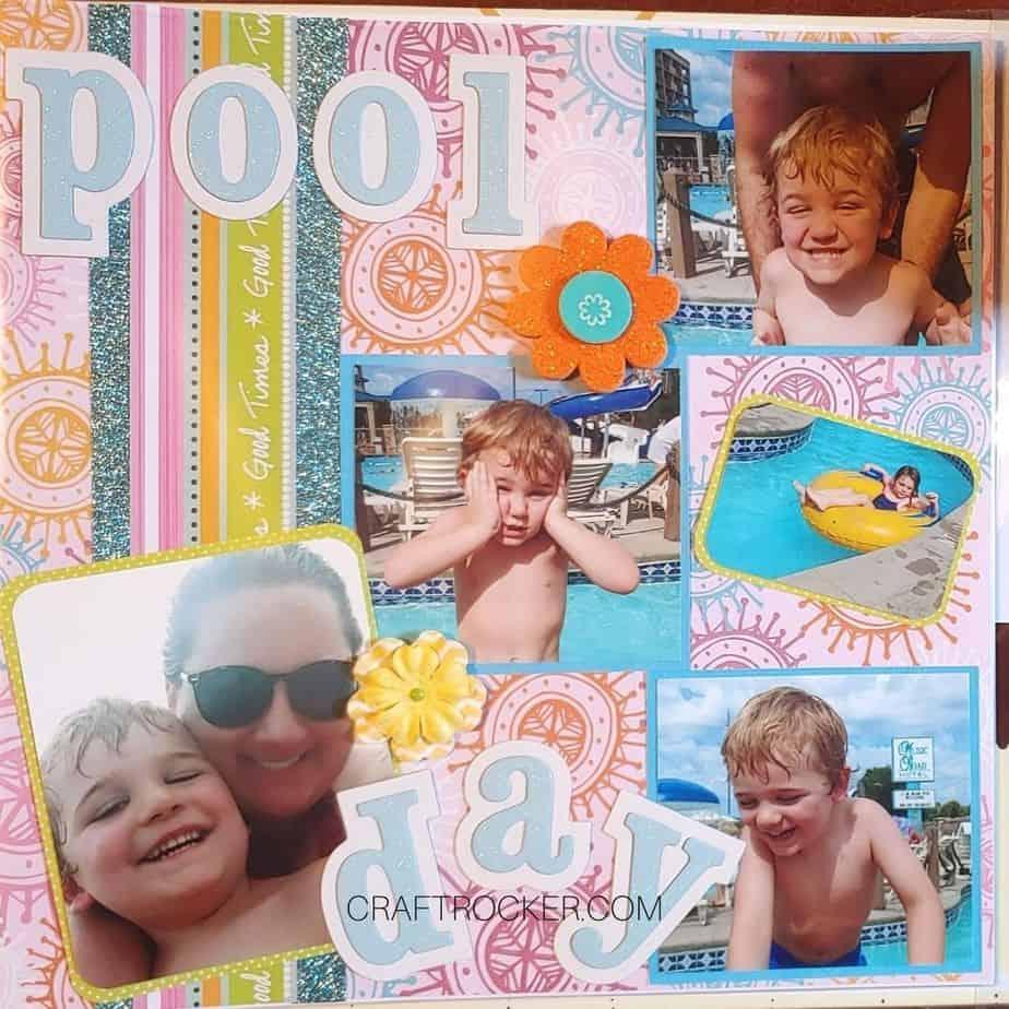 Pool Day Scrapbook Page - Craft Rocker