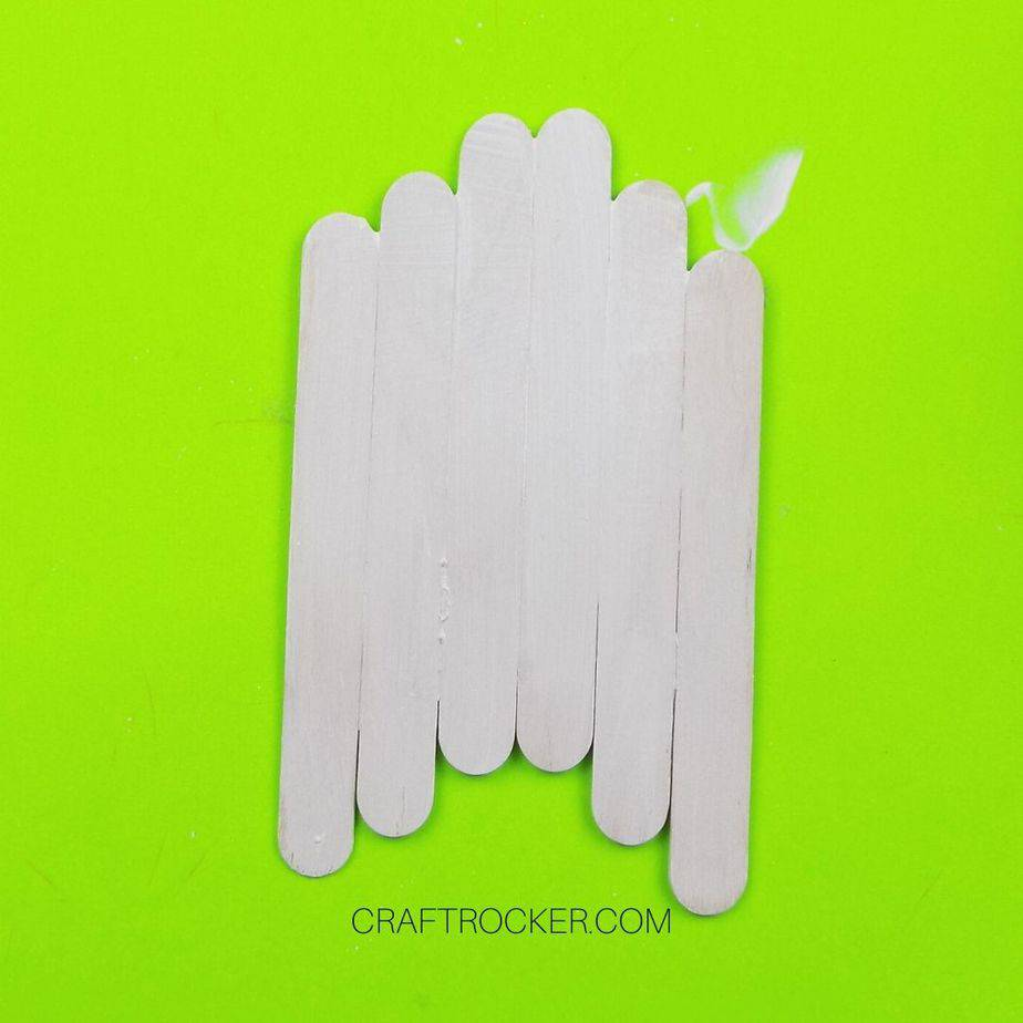 Popsicle Stick Ghost Painted White - Craft Rocker