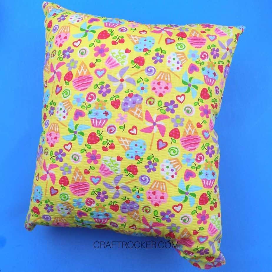 Stuffed Pillow with Unsewn Corner - Craft Rocker