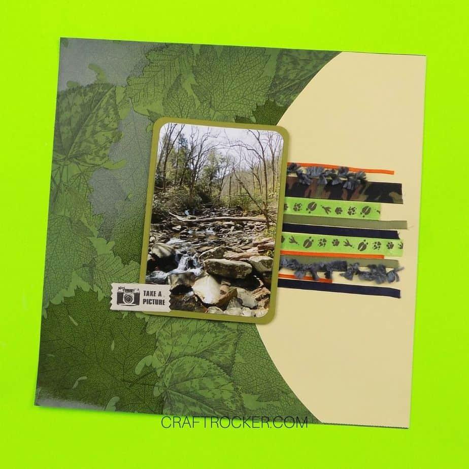 Take a Picture Scrapbook Page - Craft Rocker
