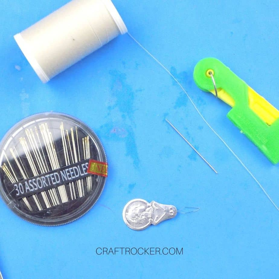 Thread and Needles next to Needle Threading Tools - Craft Rocker