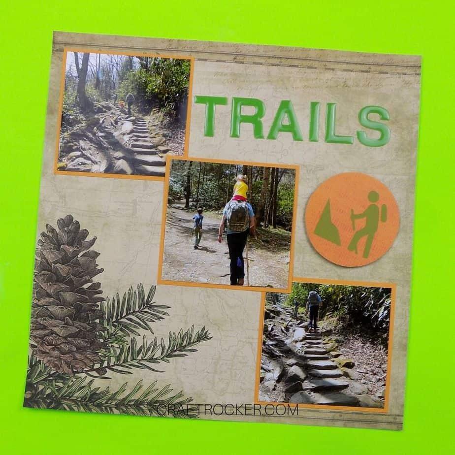 Trails Pinecone Scrapbook Page - Craft Rocker