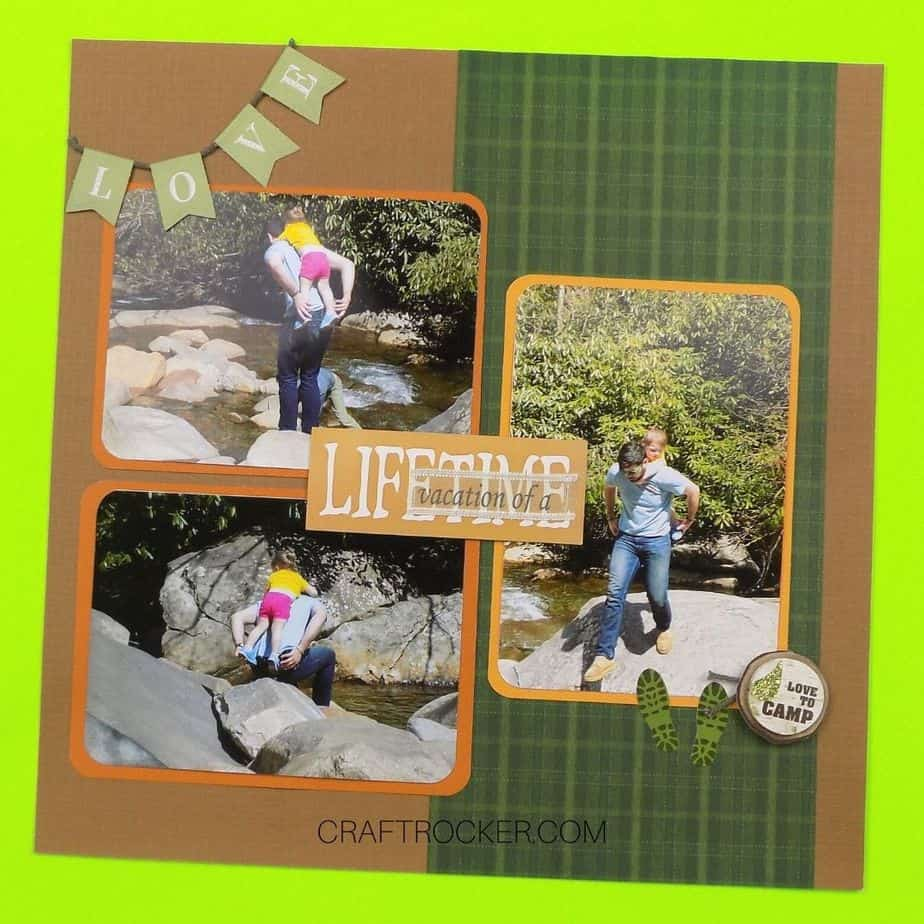 Vacation of a Lifetime Scrapbook Page - Craft Rocker