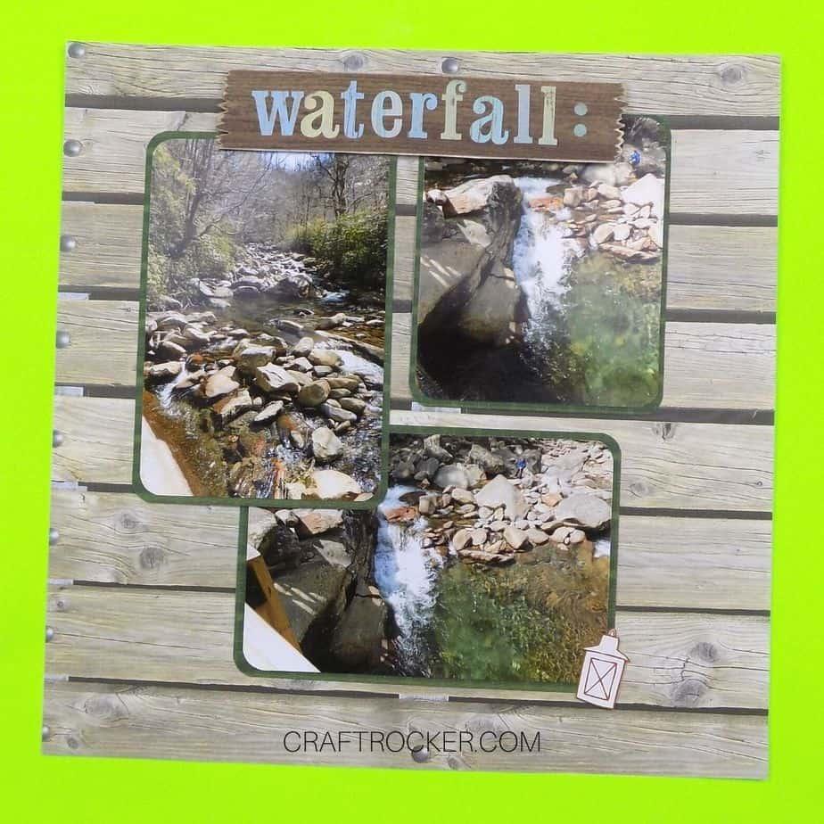 Waterfall Scrapbook Page - Craft Rocker