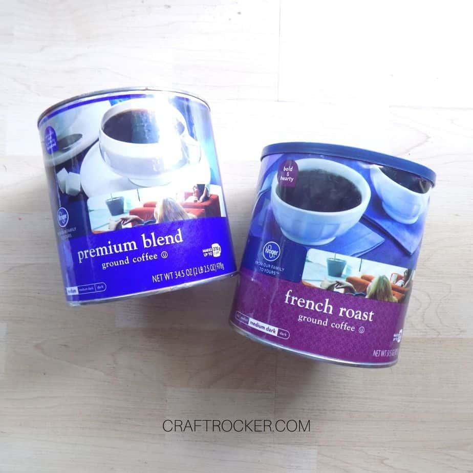 2 Empty Coffee Cans - Craft Rocker
