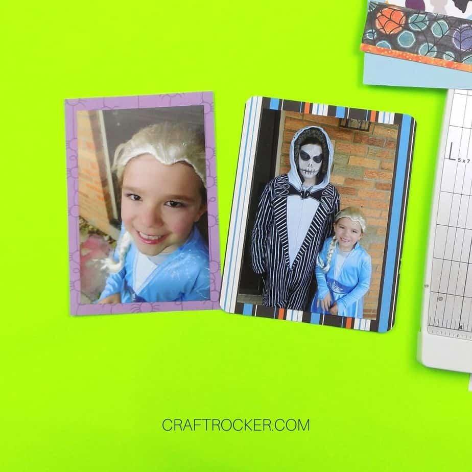 2 Matted Photos of Kids in Halloween Costumes - Craft Rocker