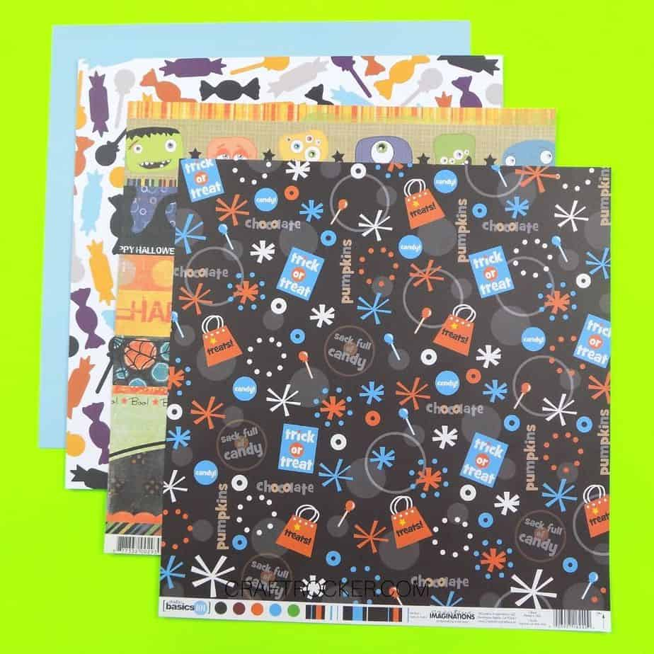 4 Sheets of Colorful Halloween Paper - Craft Rocker