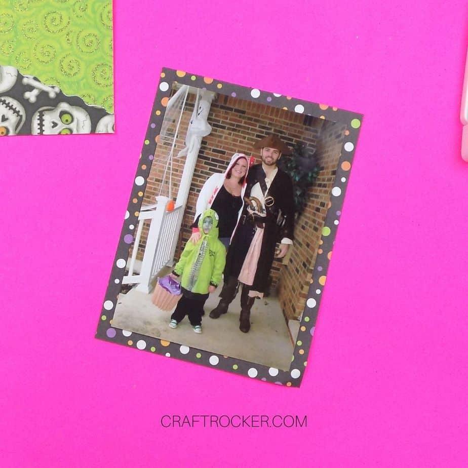 8x10 Photo Matted on Polka Dot Paper - Craft Rocker
