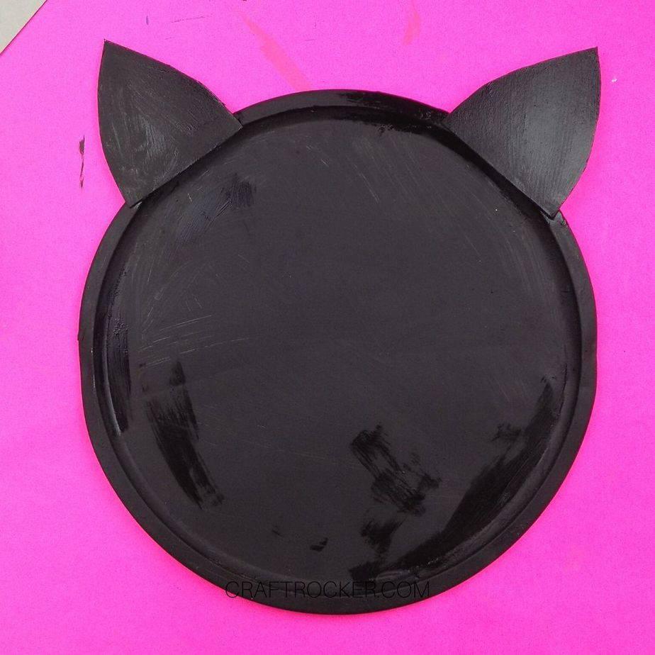 Cardboard Ears Painted Black - Craft Rocker