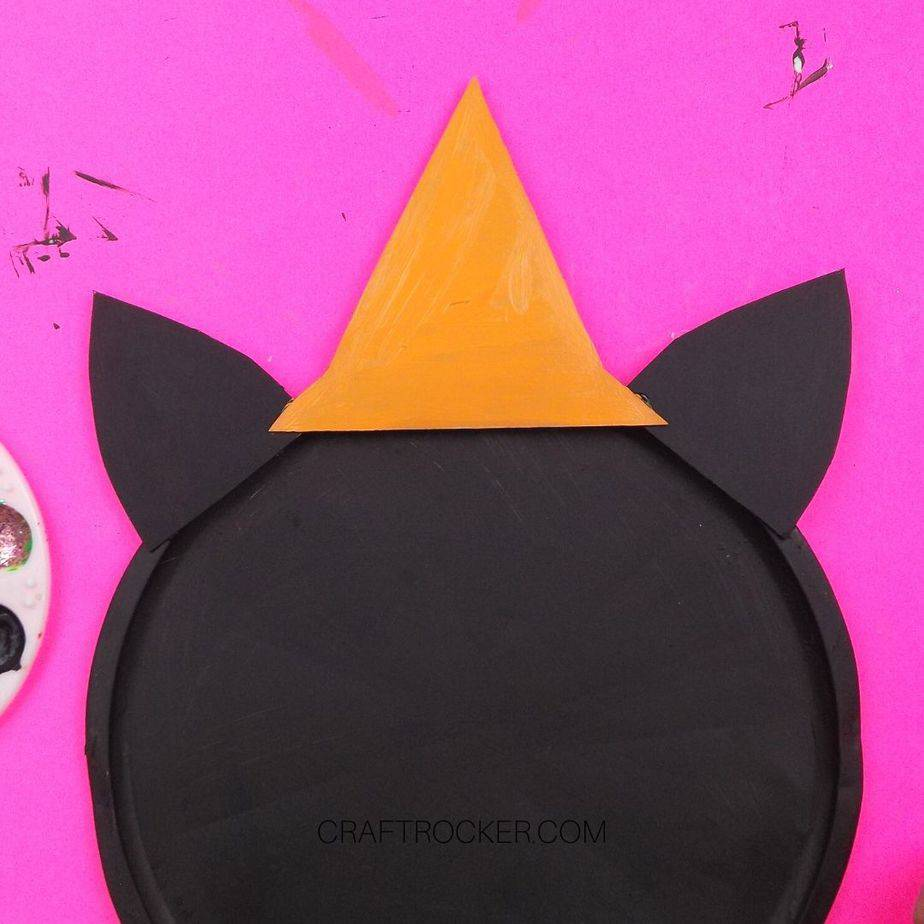 Cardboard Hat Painted Orange - Craft Rocker