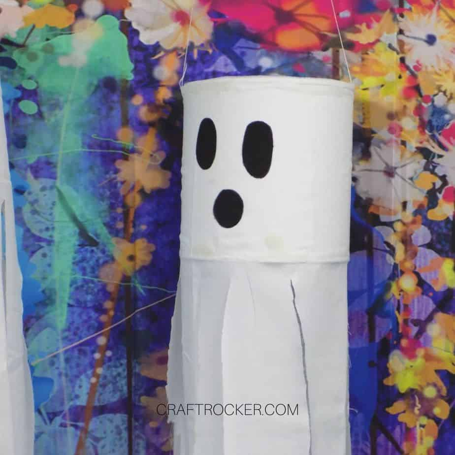 Close Up of Ghost on Floral Background - Craft Rocker