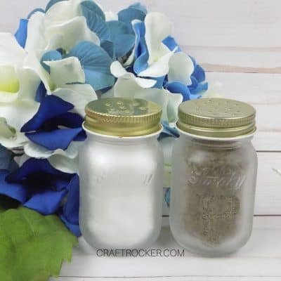 Mini Mason Jar Salt and Pepper Shakers