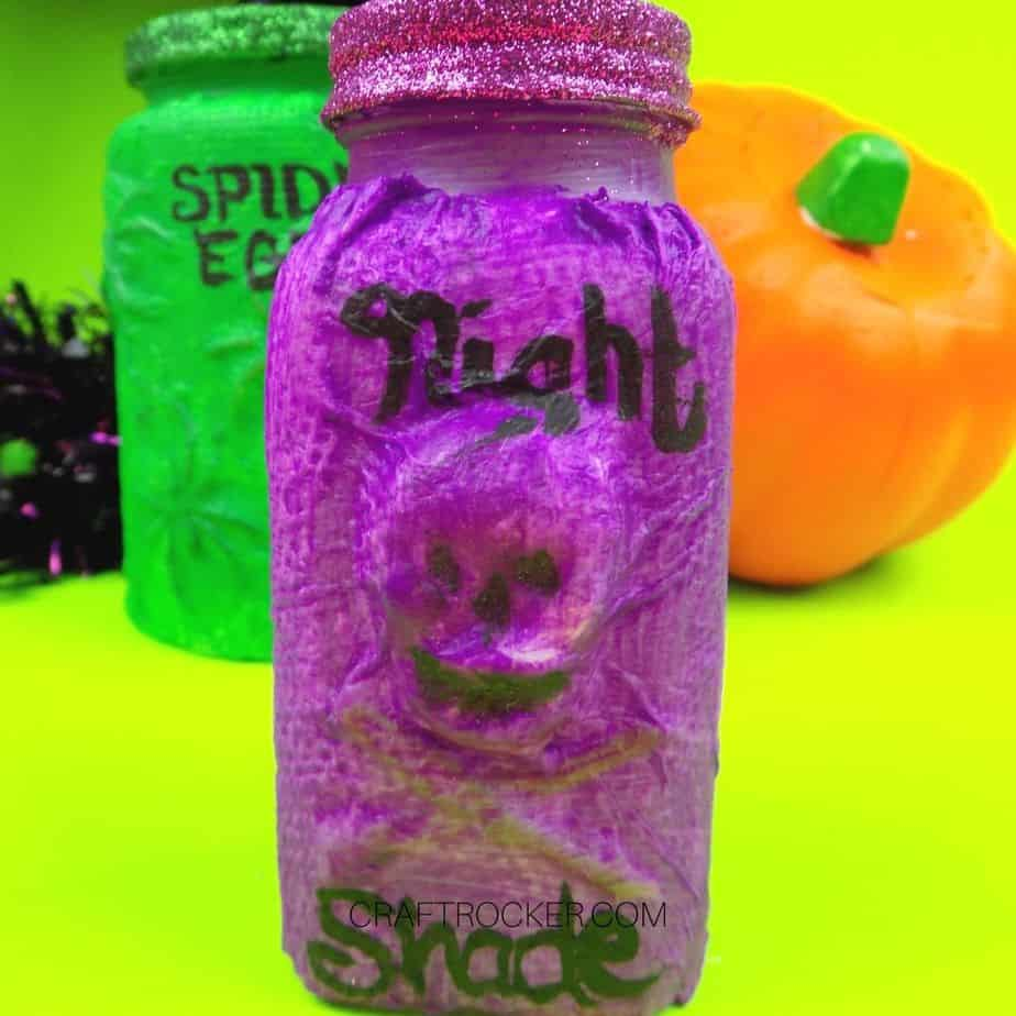 Close Up of Purple Night Shade Bottle - Craft Rocker