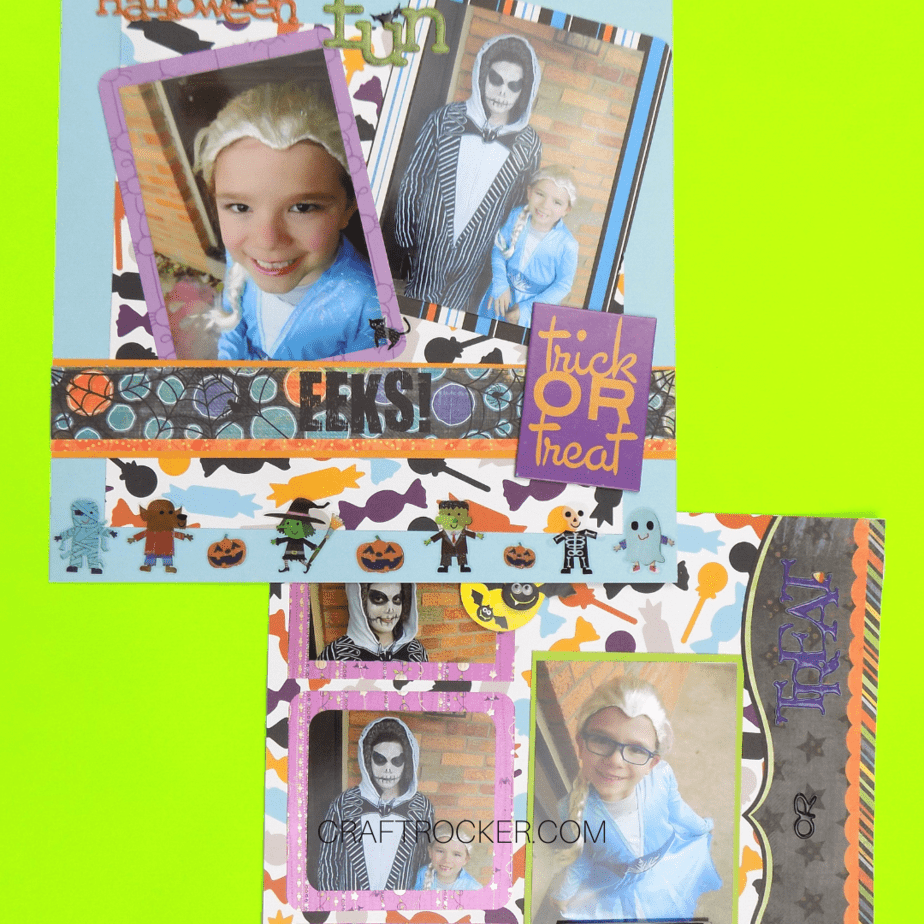 Colorful Halloween Scrapbook Pages - Craft Rocker