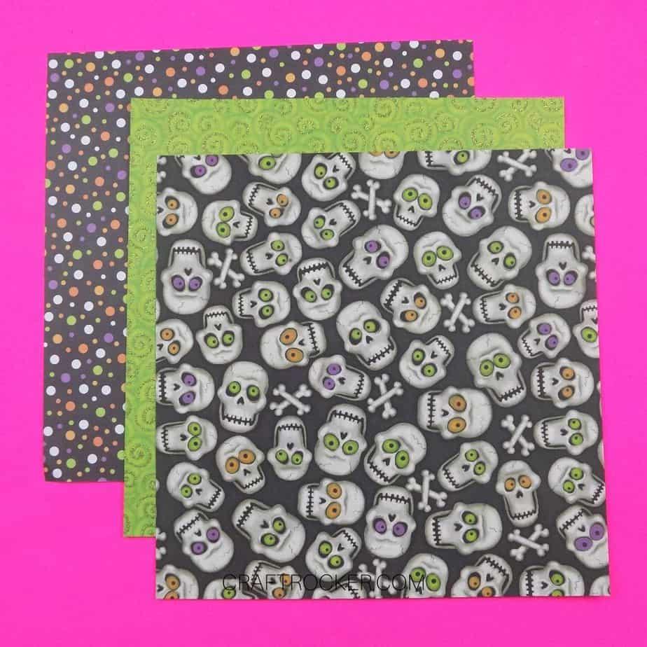 Colorful Skulls and Polka Dots 12x12 Scrapbook Paper - Craft Rocker