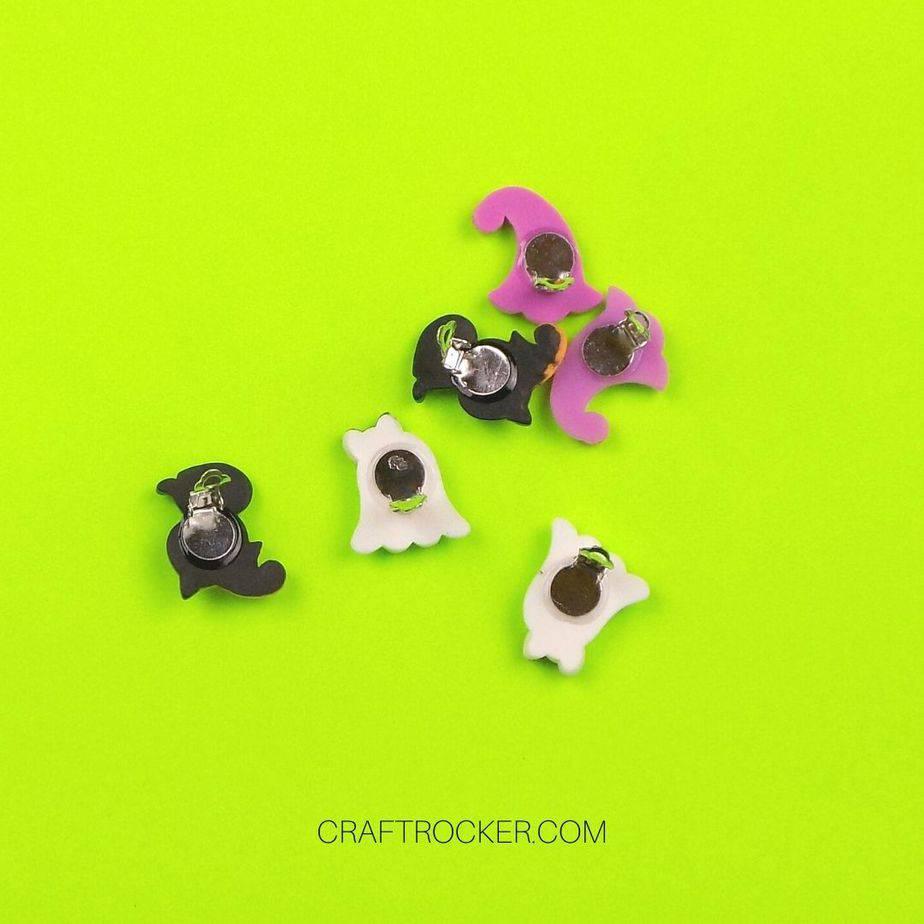Dry Back of Halloween Earrings - Craft Rocker