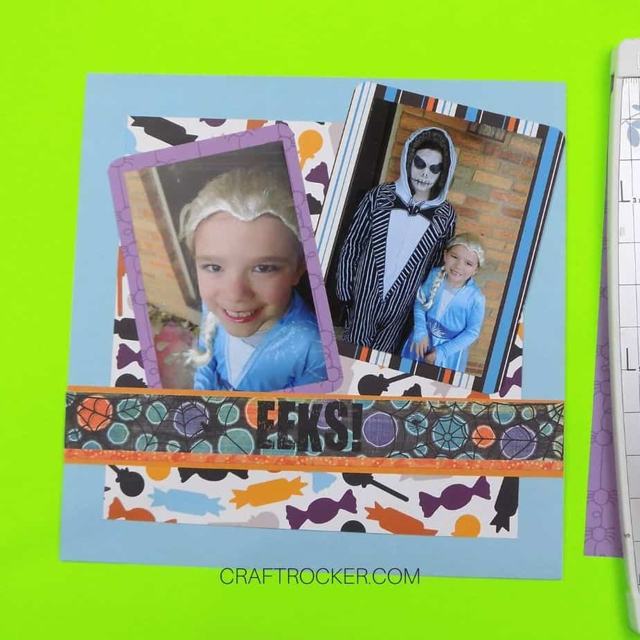 EEKS Title Boarder Attached to Halloween Scrapbook Page - Craft Rocker