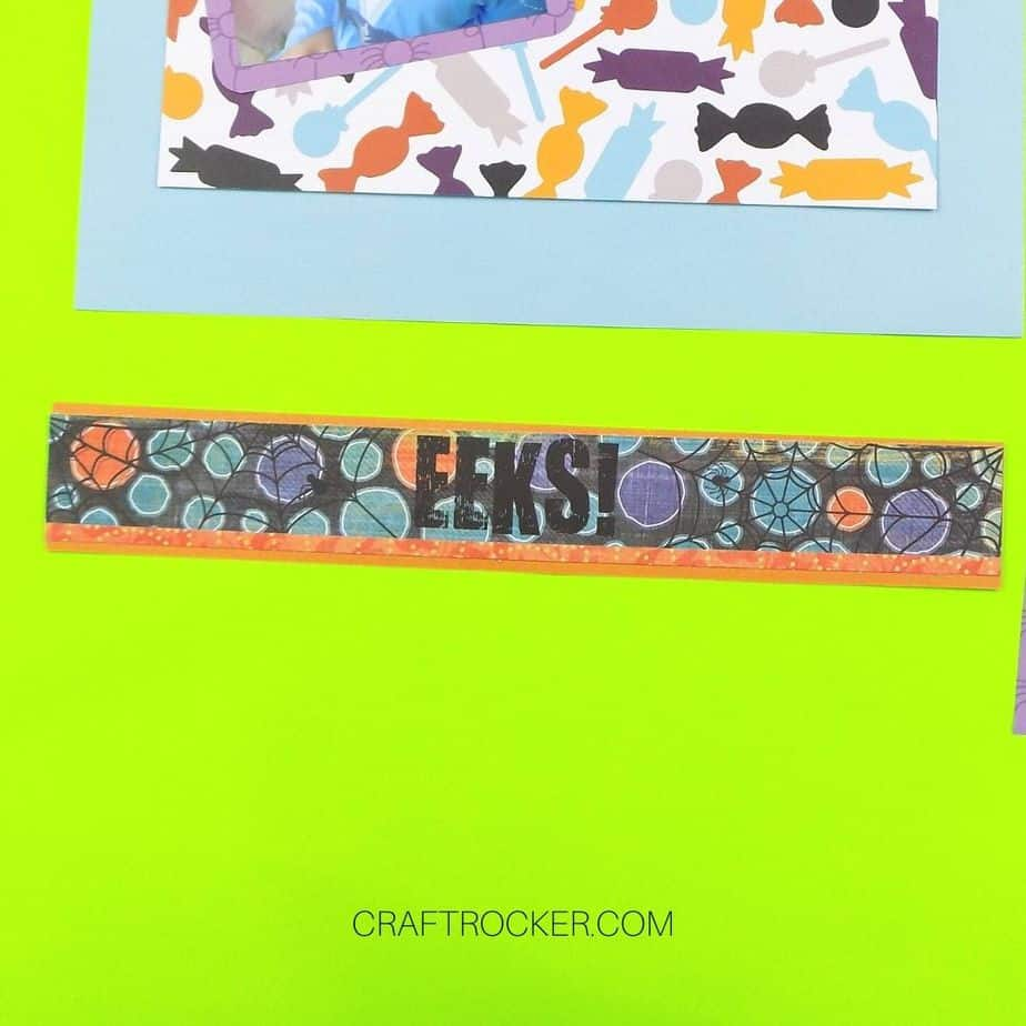 EEKS Title Boarder Matted on Orange Paper - Craft Rocker