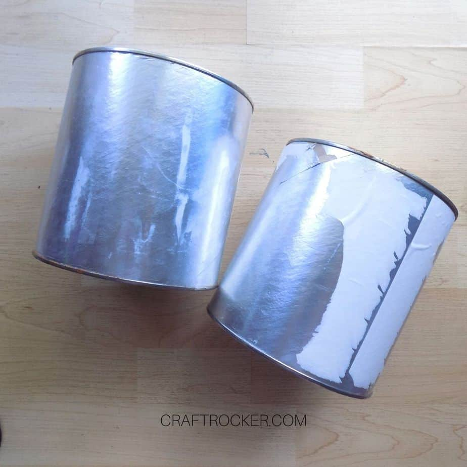Empty Coffee Cans with Labels Removed - Craft Rocker