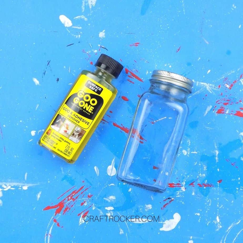 Empty Jar next to Bottle of Goo Gone - Craft Rocker