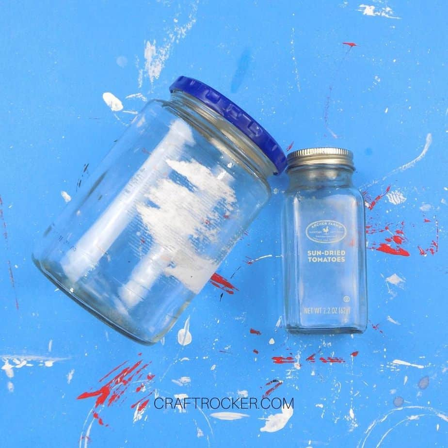 Empty Jars on Blue Background - Craft Rocker