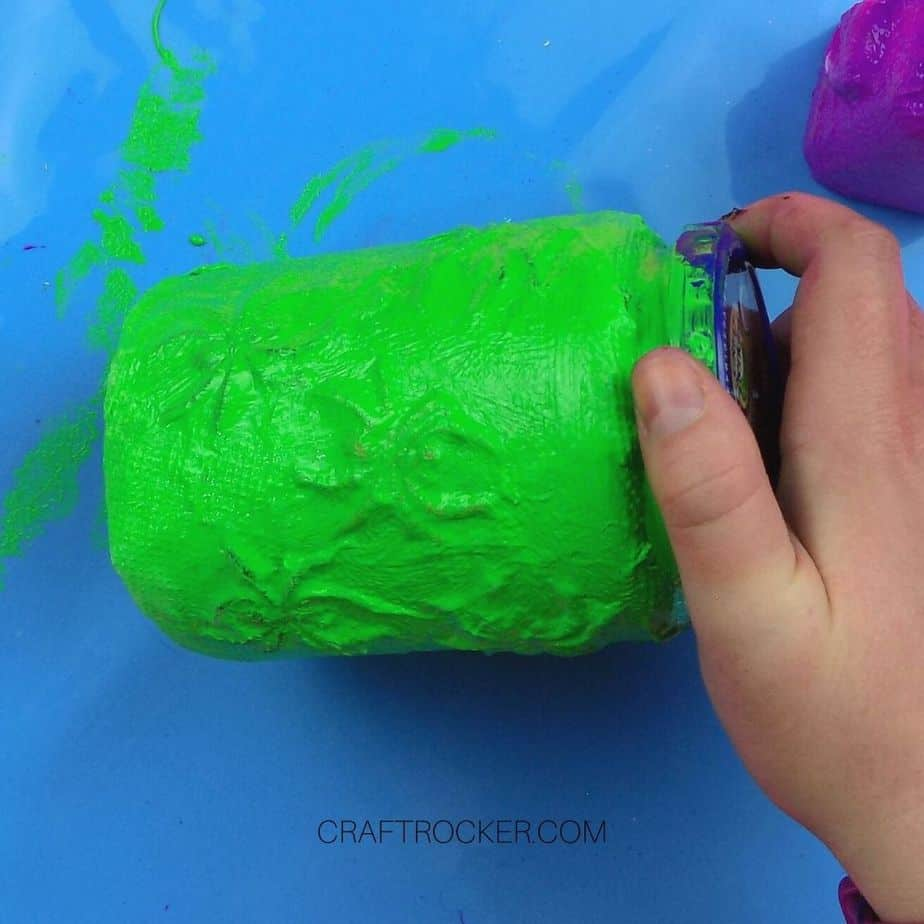 Green Painted Spider Jar - Craft Rocker