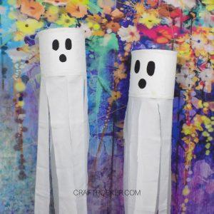 Hanging Ghosts on Colorful Floral Background - Craft Rocker