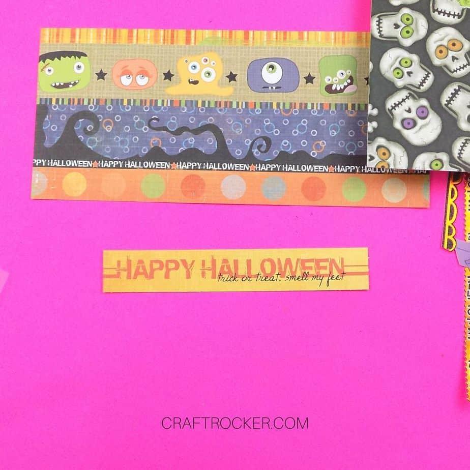 Happy Halloween Paper Title next to Halloween Borders Paper - Craft Rocker