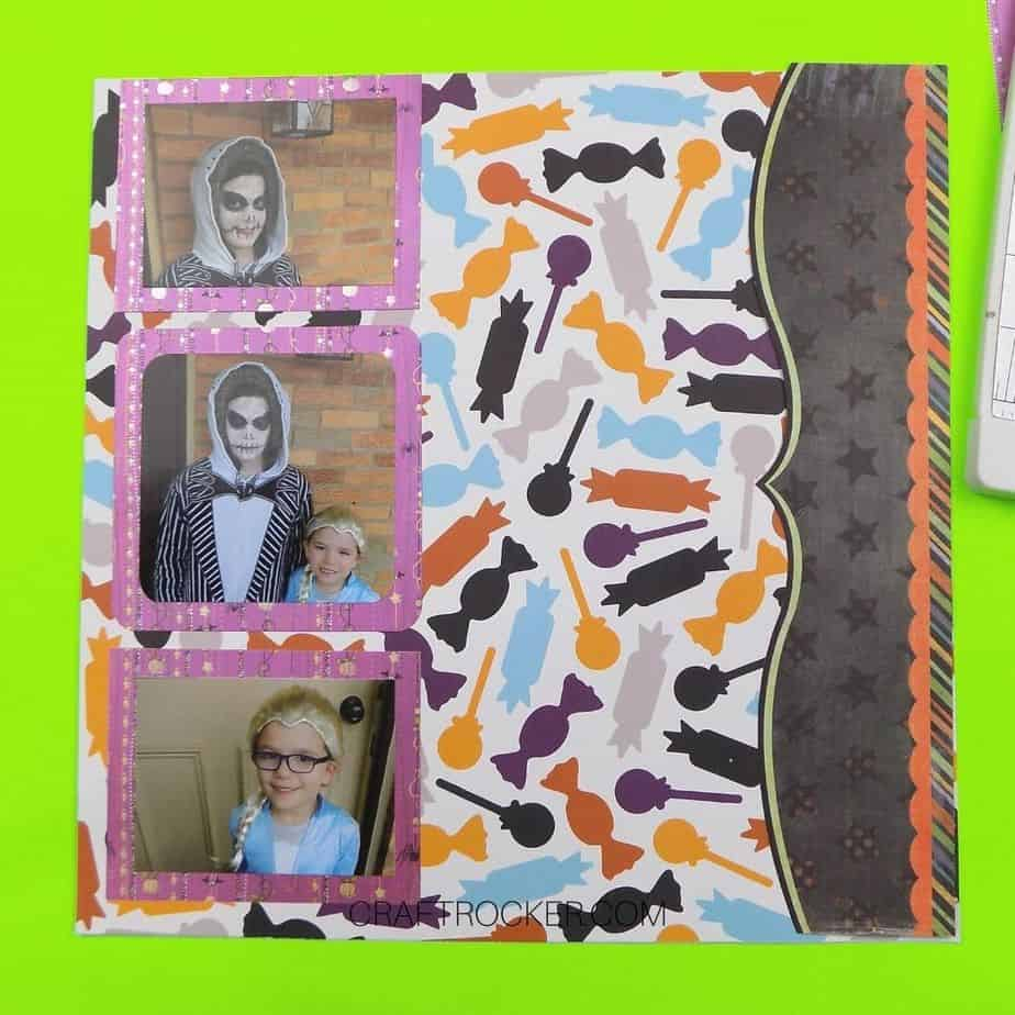 Matted Photos Attached to Left Side of Scrapbook Page - Craft Rocker